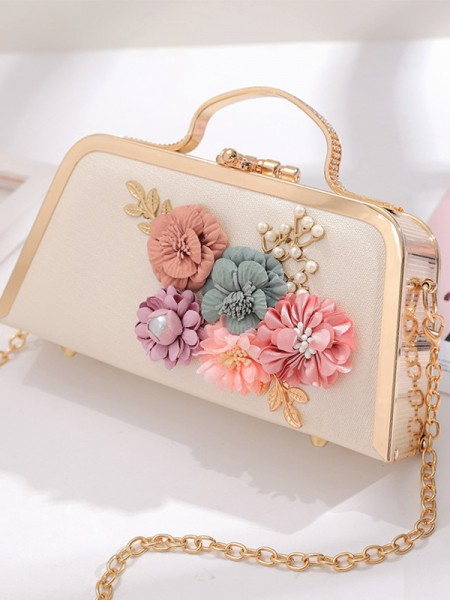 New Evening/Party Handbags With 3D Flowers