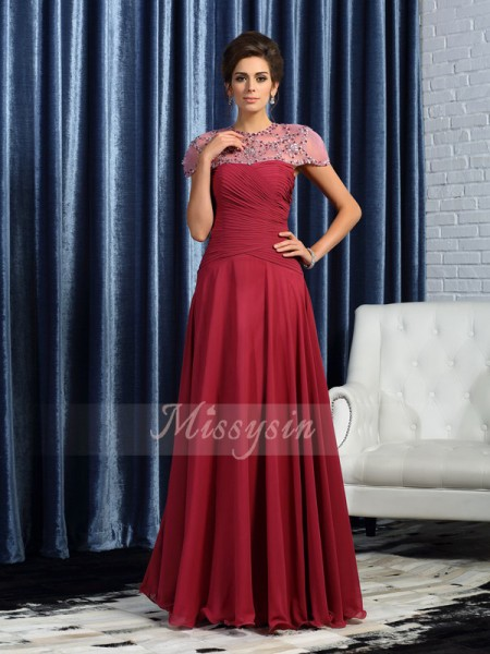 A-Line/Princess Sweetheart Chiffon Ruched Sleeveless Floor-Length Mother of the Bride Dresses