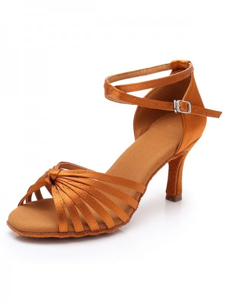 Silk Stiletto Heel Women's Peep Toe Sandals